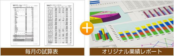 毎月の試算表+オリジナル業績レポート